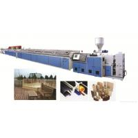 PVC Wood Plastic WPC Profile Extrusion Line Double Screw Extruder Manufactures