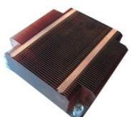 GS ROHS Aluminum Heat Sinks ,Thin Round Silver Copper Cooling Fin Manufactures
