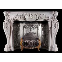 Home decoration Marble stone fireplace mantel surrounds,China marble fireplace supplier Manufactures