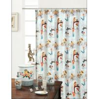 Modern Golden Bird Polyester Shower Curtain 220 CM / 250 CM Width Manufactures