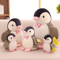 Customized Personalized Plush Toys Cute Penguin With Bow Tie , White and Black Color Manufactures