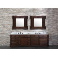 Luxuious Custom Bathroom Vanity Tops White Color With Undermount Sink Manufactures