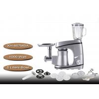 China Non - Slip Silon Gel Feet Stand Mixer With Meat Grinder 5 Liters Bowl 220V 1000 Watt on sale
