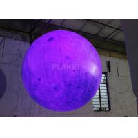 China Party Inflatable Lighting Decoration , Inflatable Moon Balloon OEM Available on sale