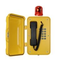 Heavy Duty Industrial Outdoor Weatherproof Telephones With Warning Light Manufactures