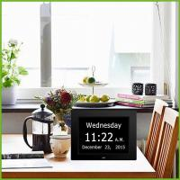 large digital wall clock with day and date for seniors,american lifetime day clock Manufactures