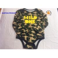 Cool Newborn Baby Bodysuits 100% Cotton Reactive AOP Front Rubber Printing Manufactures