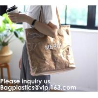 China Washable Paper Bag Waterproof Shopping Tote Bags Tyvek Bags,Embroidered / Silk Screen Printed /  Transfer Print / Sublim on sale