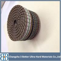 2015 New arrival professional granite marble stone 4 inch diamond polishing pad Manufactures