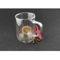 Lead Free Custom Logo Double Glazed Coffee Cups Borosilicate With Handle Manufactures