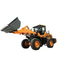 China Steel Yellow Compact Wheel Loader , Articulated Backhoe Loader High performance on sale