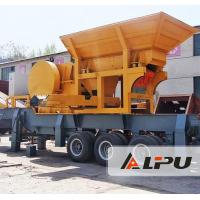 LIPU Portable Mobile Crushing Plant , Primary Stone Gravel Rock Concrete Jaw Crusher for sale
