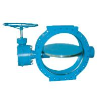 SUFA Brand Large Water Butterfly Valve Manual Double Flanged Metal To Metal Seated Manufactures