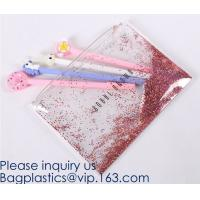 Custom Logo Glitter Cosmetic Makeup Eva Clear Pouch / Pouches,Smiggle Pencil