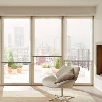 China Plain Blackout Custom Electric Blinds Vertical Blinds For Office Building Hotel on sale