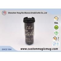 V Shape Double Wall Drinking Plastic Coffee Cups With Lids 350ml 12oz Manufactures