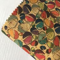 China high quality new colorful  printed Natural cork leather Fabric patterned with candy on sale