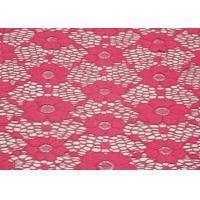 Underwear Elastic FloralLace Fabric Red Shrink-Resistant OEM / ODM CY-DN0003 Manufactures
