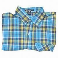 Men's Popular Fashionable Checkered Shirt, Made of 100% Cotton Woven Fabric Manufactures