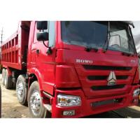China 2014 Year Used Dump Truck , Red Color 375 8X4 Howo 12 Wheeler Dump Truck on sale