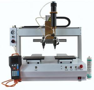 XHL-D4331double head double work table   glue dispenser machine 4 axis glue dispenser machine Manufactures