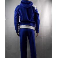 Long Sleeve heavyweight 100 Cotton Hooded Sweatshirts for Men , Blue Manufactures