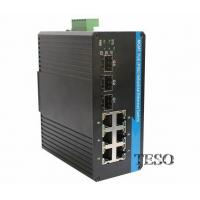 China Gigabit Optical Ethernet Switch , High Speed DIN Rail Ethernet Switch on sale