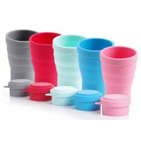330ml High-grade green non-polluting portable silica gel folding cup Manufactures