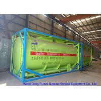 Fluoboric Acid Transport Tank Container 20FT , ISO Bulk Container For Shipping Manufactures