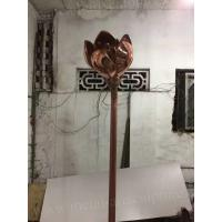 Indoor Decor Famous Bronze Sculptures , Customized Metal Garden Flowers Sculpture Manufactures