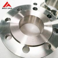 China Flat Face Weld Neck Flange , Forged Chemical Industry Titanium Flange on sale
