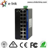16 Port Small Fast Din Rail Ethernet Poe Switch , Hardened Switch FCC Standards Manufactures