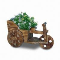Wooden Flower Pot, Measuring 38.5 x 19 x 22cm, Customized Designs, Sizes and Shapes Available Manufactures