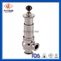 Food Grade Sanitary Pressure Relief Valve Safety One Way Flow Direction Manufactures
