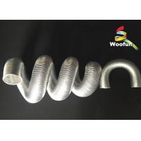 Aluminum Foil Auto Air Duct Hose , Fiberglass Protective Car Engine Exhaust Bellows Manufactures