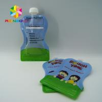 Reusable Food Pouch Packaging / Leak Proof Baby Food Pouches With Dual Zipper Manufactures