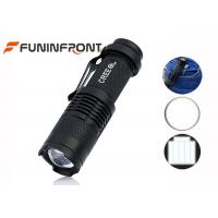 China CREE XPE Q5 LED Flashlight Adjustable Focus, Hard Light Clip LED Torch on sale