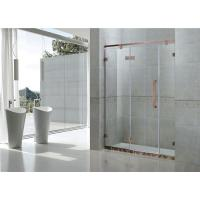 China Red Bronze Inline Frameless Glass Shower Doors 8MM Tempered Glass For Apartment on sale