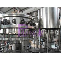 Food Grade Soft Drink Filling Line Glass Bottle Filler Machine Stainless Steel Manufactures
