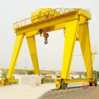 China 100 Ton Double Girder Container Gantry Crane Launching Gantry Crane Yellow Color on sale