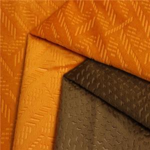 China Embossed Poland Shiny Sofa Cloth Fabric Anti - Static All Kinds Colors on sale