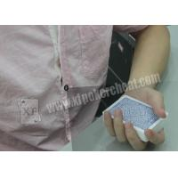 Plastic Casino Games Marked Cheating Poker Cards Shirt Button Camera Manufactures
