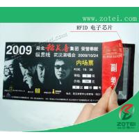 RFID concert ticket,200*80mm or customized size Manufactures
