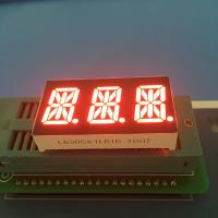 "Buy cheap 0.54"" 3 Digit 14 Segment LED Display Alphanumeric Super Bright Red LED Color from wholesalers"