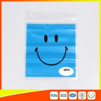 China Reclosable custom printed plastic bags Transparent  for Grocery on sale
