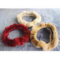 China Cute Girly Car Steering Wheel Covers , Winter Real Fur Steering Wheel Cover  on sale