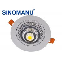 10W LED Recessed Downlights Cut Hole 75MM D90 * H70 MM Dimension CRI 82 Manufactures
