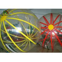 Colorful Strings Durable PVC / PTU Inflatable Walking Water Ball By Hot Air Welding Machine Manufactures
