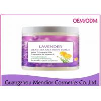 China Mineral Oil Dead Sea Lavender Body Scrub For Legs Preventing Acne Cleansing Pores on sale