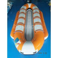 Orange Color Inflatable Banana Boat, Towable Water Boat For Summer Activity Manufactures